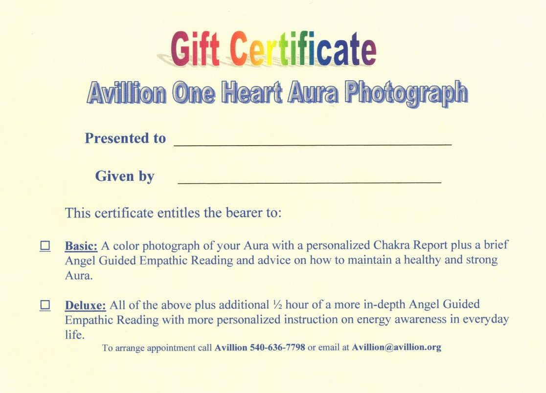 Aura Photography & Consultations - Avillion of Universal Insight