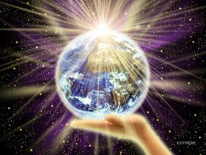 Earth in Crystal and Light